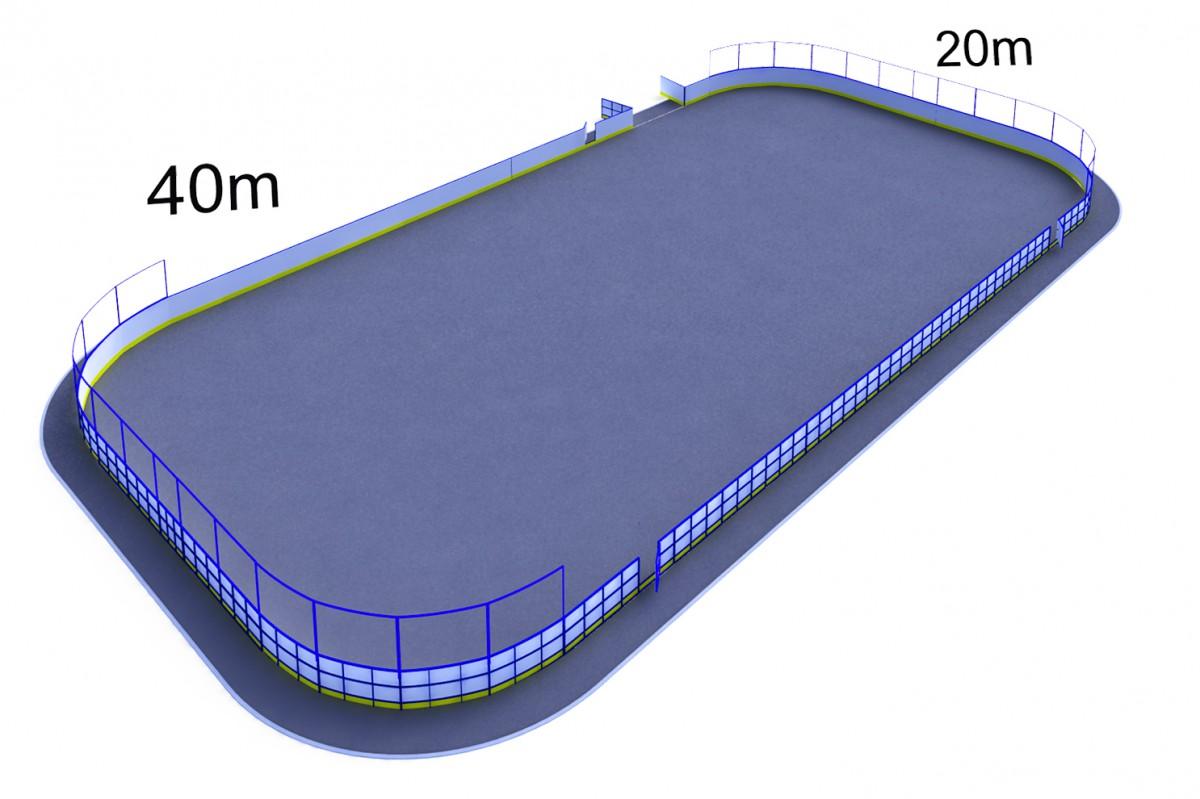 Хок-1.1 с сеткой за воротами