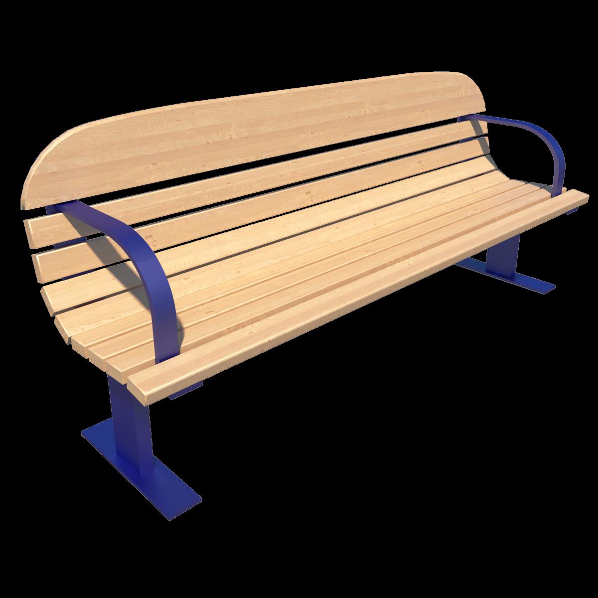 Скамейка со спинкой парковая Д-1.2