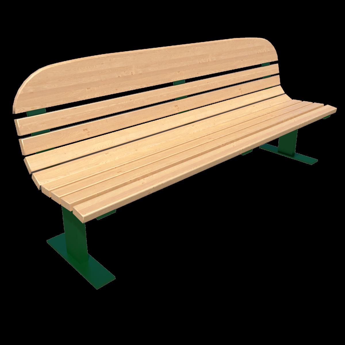Скамейка со спинкой парковая Д-1.3