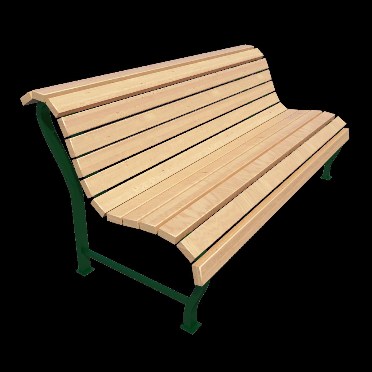 Скамейка со спинкой парковая Д-1.4