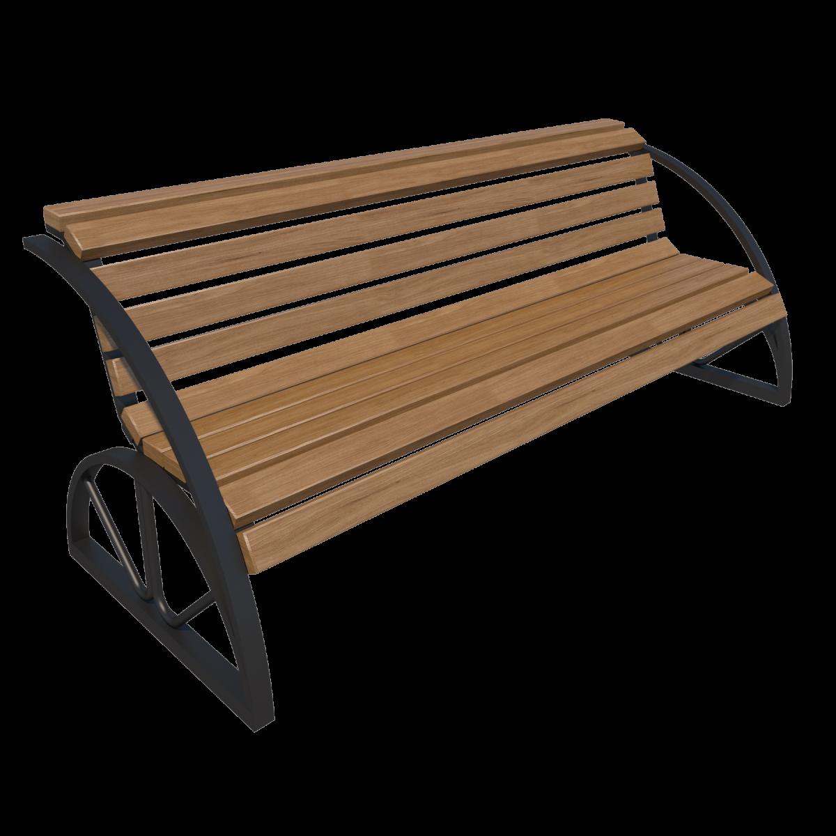 Скамейка со спинкой парковая Д-1.12