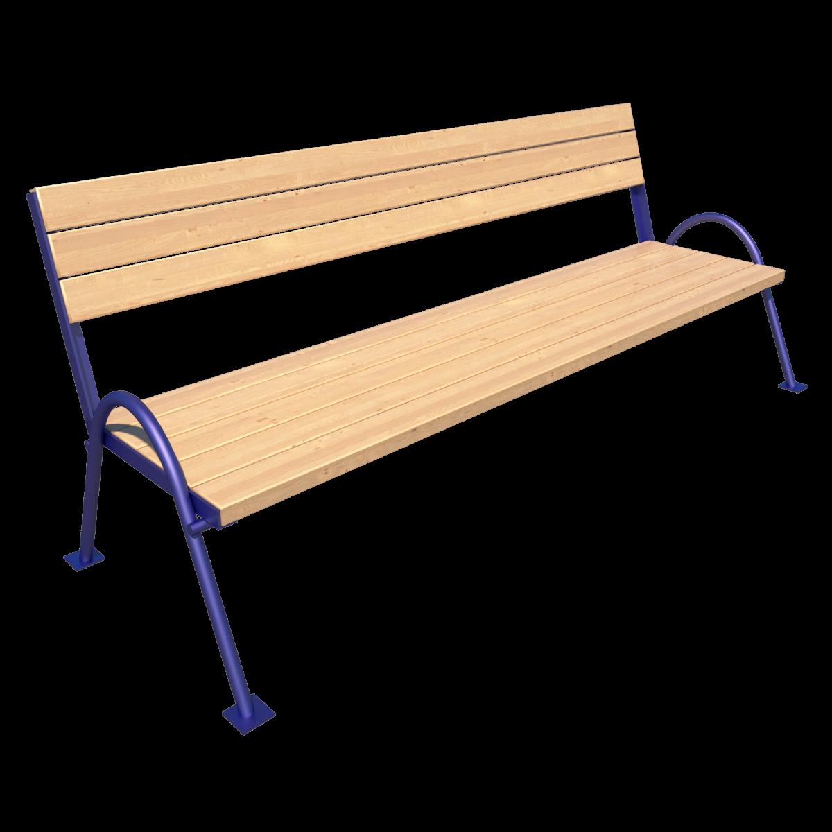 Скамейка со спинкой парковая Д-1.21