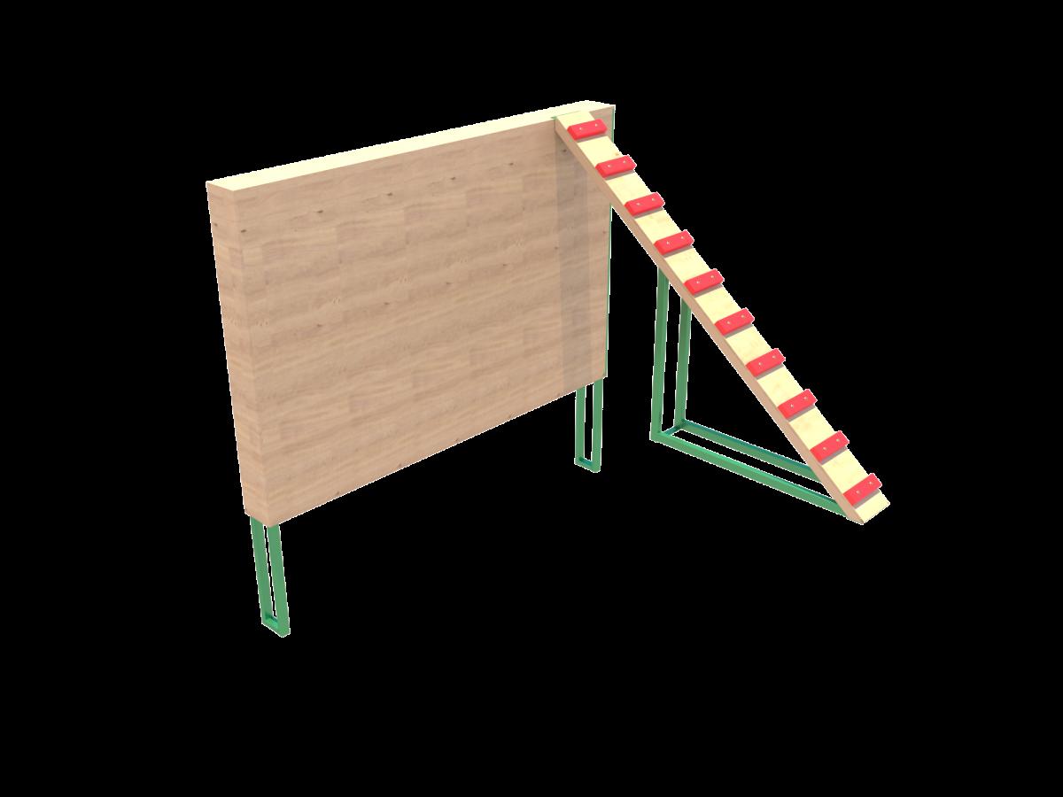СК 20.4 Забор с наклонной доской