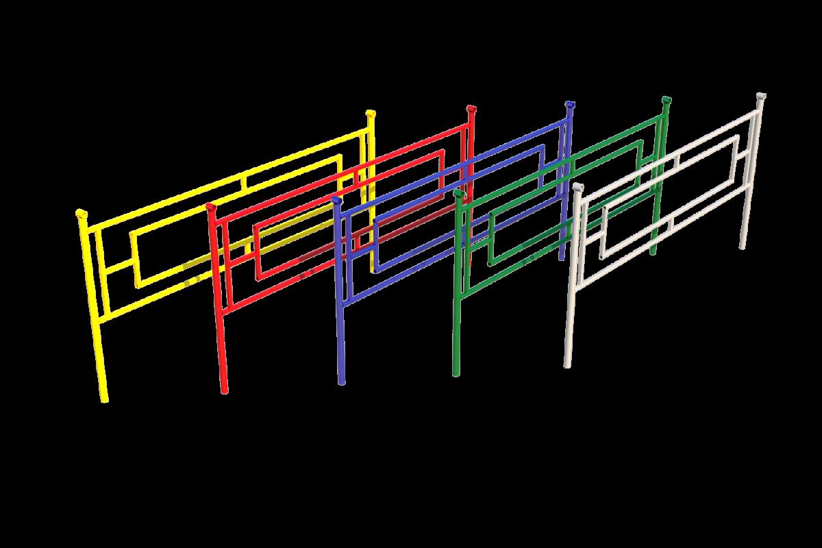 Ограждение ОМ-04 (цветные)