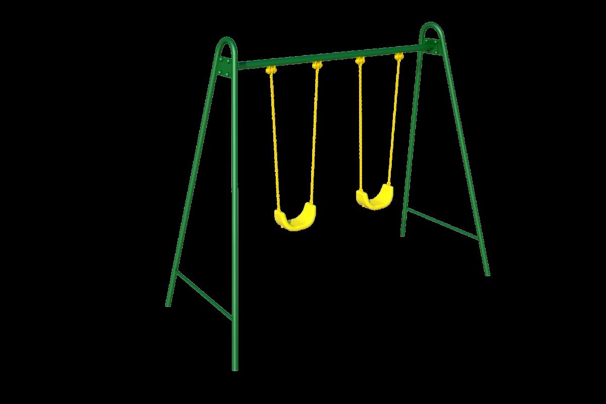 Качели двойные (на цепных подвесках)